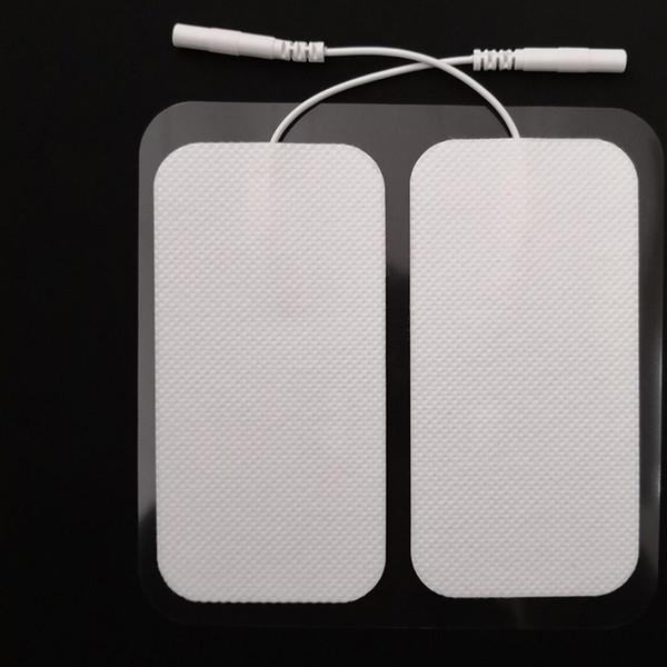 Eletrodo Pads DEZENAS Unidade 2 * 4 polegada Eletrodo Retangular para DEZ Massagem EMS Dispositivo Massageador com Longa Duração Gel Confiável