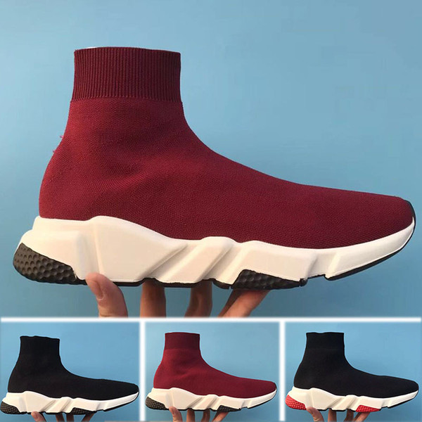 New Paris Speed Runner Knit Sock Scarpa Original Luxury Trainer Runner Sneakers Race Uomo Donna Scarpa sportiva senza scatola