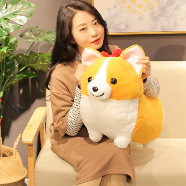 1pc 38/45/60CM Kawaii Corgi Dog Plush Toy Cute Cartoon Animal Chai Dog Pillow Stuffed Dolls For Children Girls Valentine's Gifts