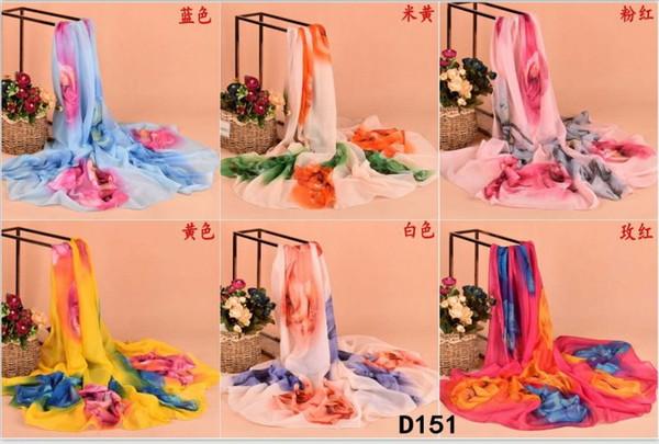 Всесезонные совмещенные вискоза шелковые саронги Шарф Женская мода пляжный платок смешанный цвет 180 * 100 см 20 шт. / Лот # 3836
