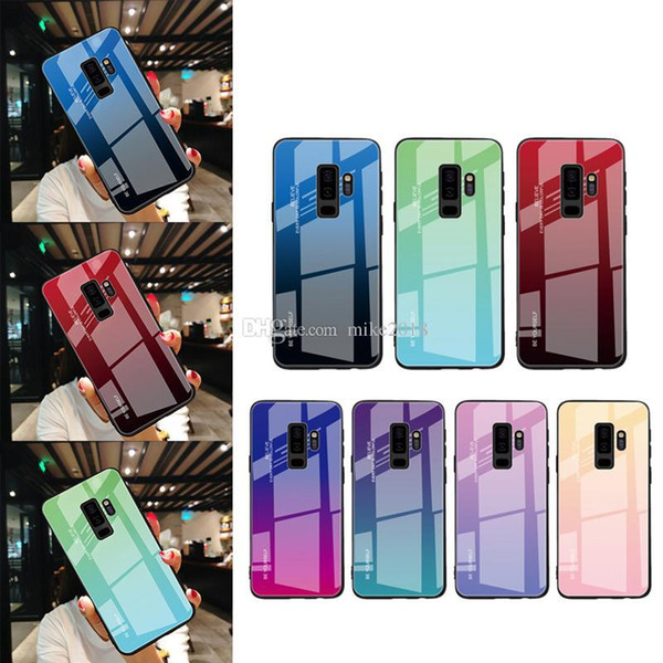 NEW Tempered Glass Case For Samsung Galaxy S8 S9 S10 Plus S10e A50 A30 70 A7 J6 A8 2018 Note 8 9 M30 M20 Aurora Colorful Cover