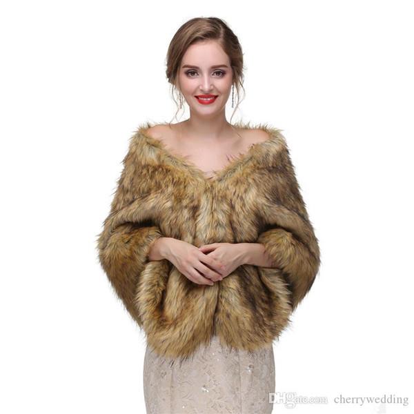 CMS11 Encantador das mulheres Macio roubou a pele roubou a capa do xale de pele, envoltório da pele do falso do casamento lenços de noite xailes mulheres jaqueta de baile festa à noite