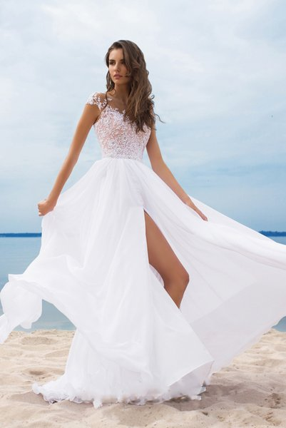 Sexy Long Prom Dresses Deep V Neck split lace Appliques Lace Tulle Over Skirt Illusion Evening Dresses Formal beach special occasion gown