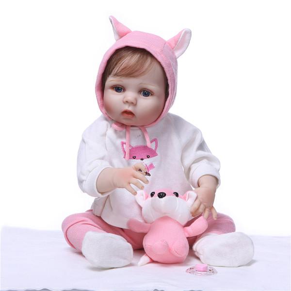 Bebe Reborn Baby Doll Princess Girl Dolls 55CM full body Soft Silicone Babies Girls Lifelike Newborn dolls bebe bonecas
