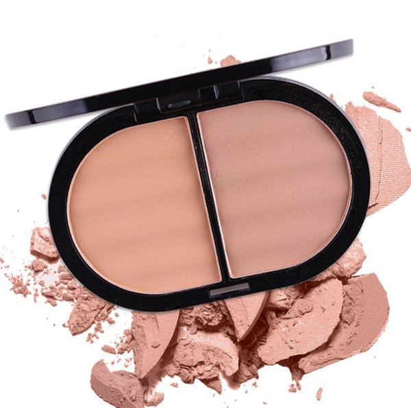 2 in 1 Natural Mineral Compact 2 color powder cake Powder Ivory Fix Concealer and Foundation face Matte Oil Control Pressed Powder
