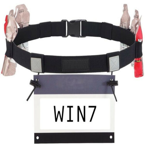 Triathlon Marathon Race Number Belt with Gel Loops Outdoor Elastic Nylon Running BIB Waist Card Holder Unisex Jogging Race Belt