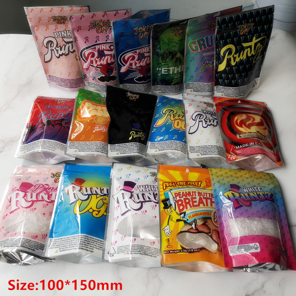 top popular Hot Joke's UP! 3.5g White Runtz Pink Runtz OG V Gruntz Pink+ Runts Peach Kobbler Smell Proof Bags 420 Dry Herb Flowers 2020