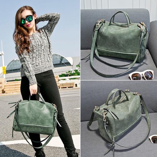 2019 Fashion Female Shoulder Bag PU Leather women handbag Vintage Messenger Bag 4 colors Diaper Bags C6047