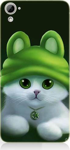 For htc desire 826 teknomeg berets cat pattern design silicone case ship from turkey HB-004357215