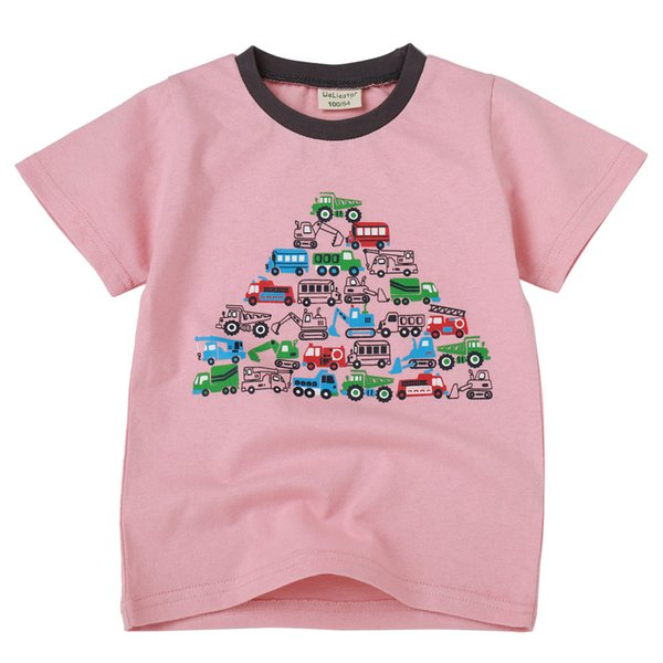 Children's T-shirt with round collar and cotton half-sleeve for boys and girls printed on short-sleeved children's T-shirt in summer of 2019