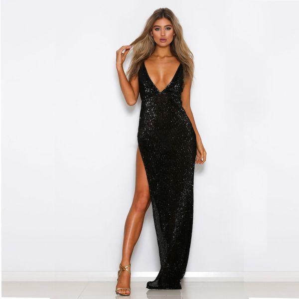 Pretty 2020 Plus Size Black Evening Dresses Elegant Mermaid V Neck Beading Long Formal Dress Support Custom Midi Evening Dresses Petite Evening