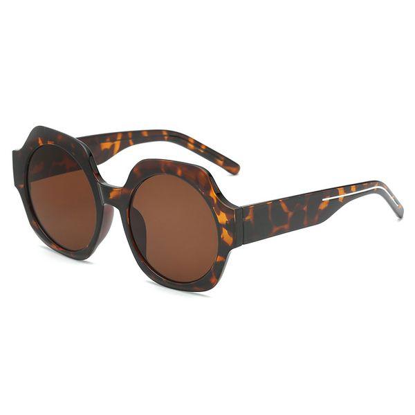 New women's brand designer sunglasses women's men's sunglasses metal frame unique hexagonal plane lens coating uv400 sunglasses goggles