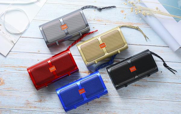 altoparlante bluetooth T16 mini stereo loudspepaker handfree senza fili portatile subwoofer build-in di sostegno microfono USB TF AUX Linea
