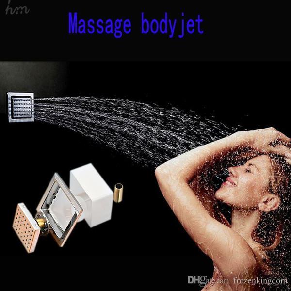 Cuerpo de masaje cuadrado spray jet 4 pulgadas accesorios de baño de latón para baño envío gratis por DHL T 161222 # 161225