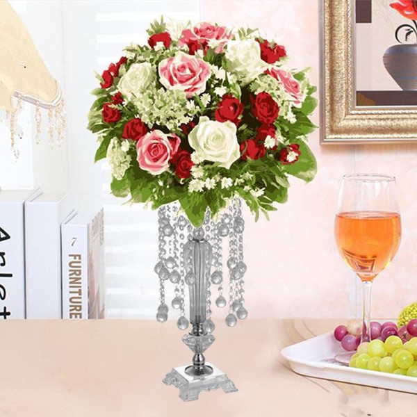 High quality Crystal Wedding Flower Stand Table Centerpiece Event Decoration Flower Chandelier Holder Ceremony Party Decor Wedding Supplies