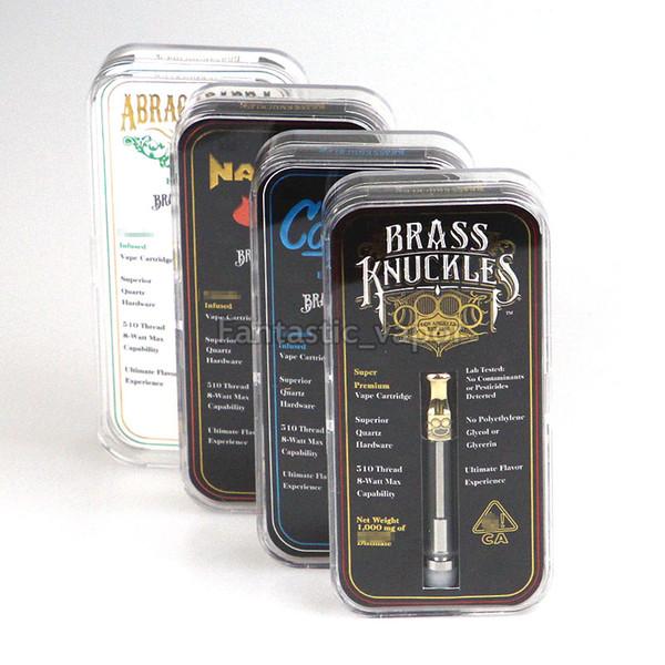 Date Brass Knuckles Cartouche 1.0ml Pryex Verre 510 cartouche vape vide cartouches Abragadabra OG avec l'emballage de la boîte