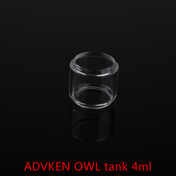 Wholesale ADVKEN OWL tank 4ml Replacement Glass Tube With DHL Free Shipping buy cheap ADVKEN OWL tank 4ml Fatboy Glass tube
