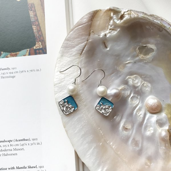 Boucles d'oreilles de créateur en argent et en argent sterling 925 pour femmes et filles, en cadeau et pour tous les jours
