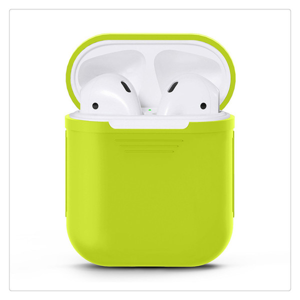 Silicone Protective Cover Earbuds Protective Case for Apple Airpods Wireless Bluetooth Headphones Earbuds Earphones Charging Box