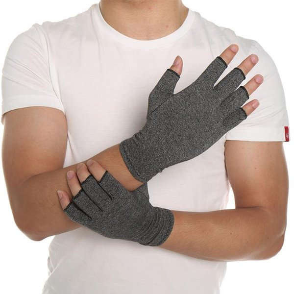 New 1 Pair Women Men Cotton Elastic Hand Arthritis Joint Pain Relief Gloves Therapy Open Fingers Compression Gloves