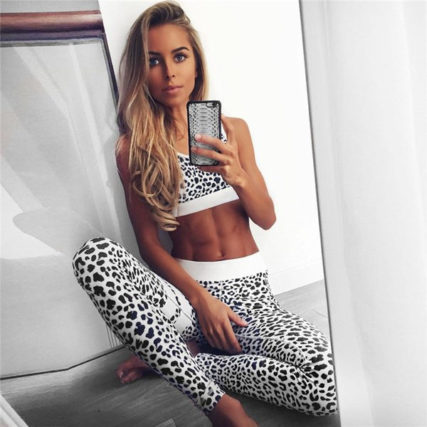 54d6d5be481e Women's Fitness Suits Crop Tank Top And Legging Pants 2 Pieces Set Summer  Fashion Ladies Sexy