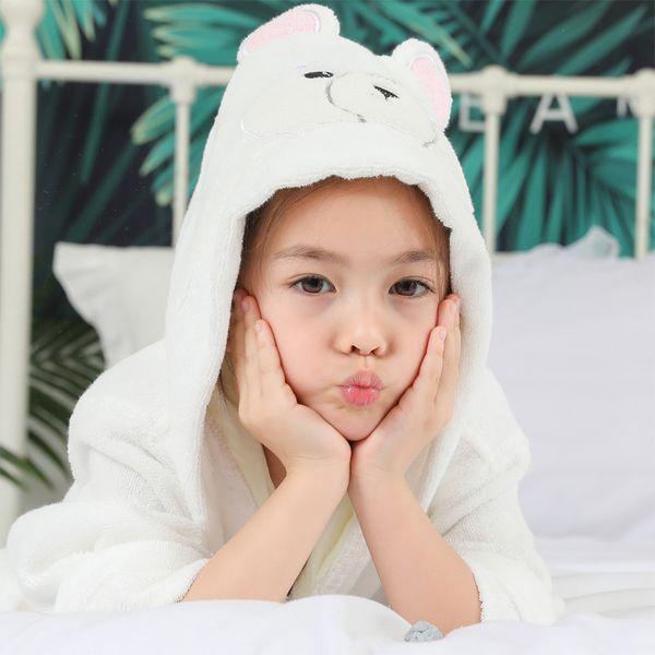 Bathrobe Kids Baby Dressing Gown Animal Baby Bathrobe Towel Children Bathgrowns Bathrobes Bear Hooded Bath Robe for Girls