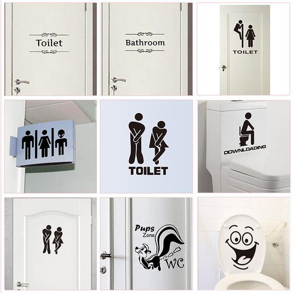 toilet sticker wc toilet entrance sign door stickers for public