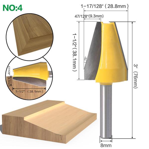 8Mm Shank Panel Raiser Router Bit-Cutter Woodworking Bits Wood Milling Cutter