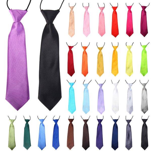 Solide Krawatte Fliege Wear für Kinder Jungen Mädchen Studenten Kid Krawatte Stage Performance Foto Abschlussfeier Schwarz