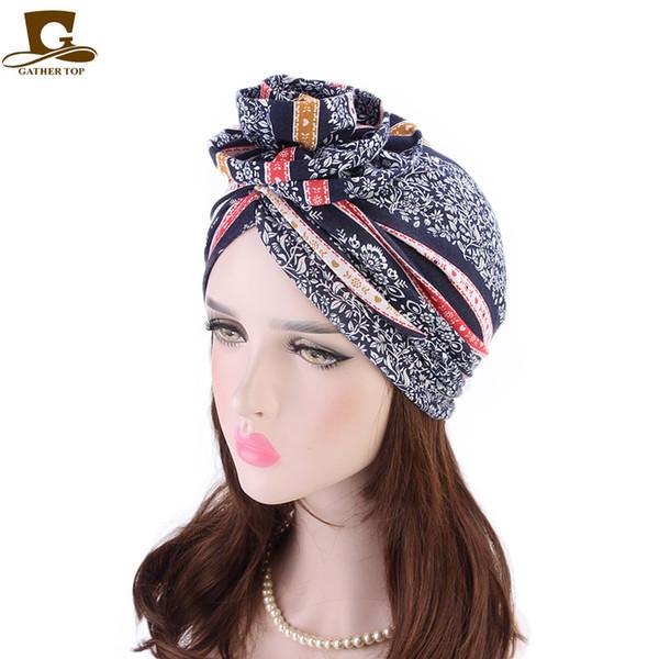 New fashion Elegant 3D Flower Turban Women Cancer Chemo Berretti Caps Musulmano Turbante Party Hijab Headwear Accessori per capelli