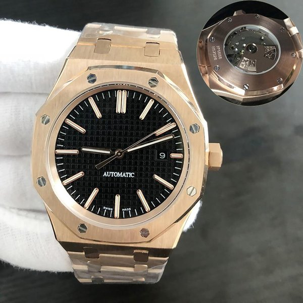 rose gold with Black