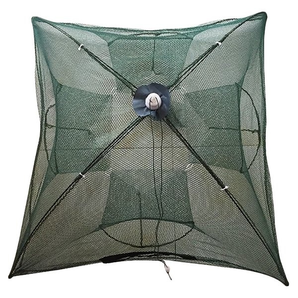 Portable Foldable Automatic Fishing Net Landing Net Trap Cast Dip Cage Fish Shrimp Trap Fish Minnow Crayfish Crab Baits Ca
