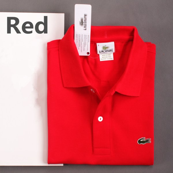 Brand Men's embroidery Polo Shirt Cotton Short Sleeve shirt Solid Casual Polo Homme For Men Tee Shirt Tops Accpet Custom LS-1807