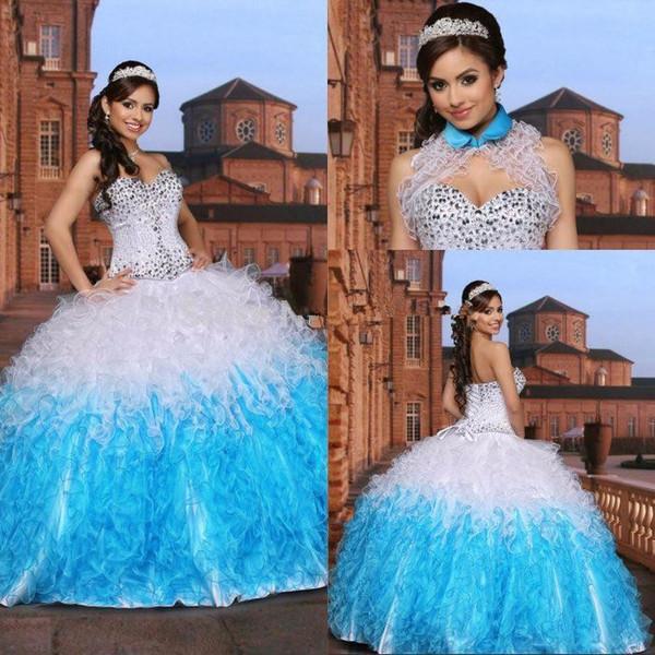 Charming Sweetheart Sweet 16 Quinceanera Dresses 2019 vestidos de novia Crystal Beaded Prom Gowns Vestidos De 15 Anos Custom Made