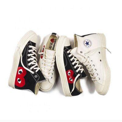 1970s big eyes play chuck 70 heart 70 hi canvas skate shoes classic 1970 canvas shoes jointly name skateboard casual sneakers, White;red