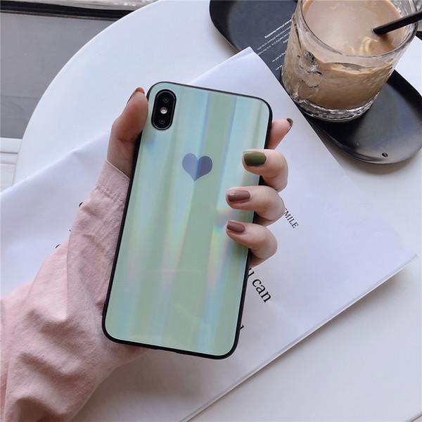 2019 быстрая доставка для iphone 6 plus стеклянный корпус лазерное закаленное стекло aurora для iphone x case форма телефона чехол