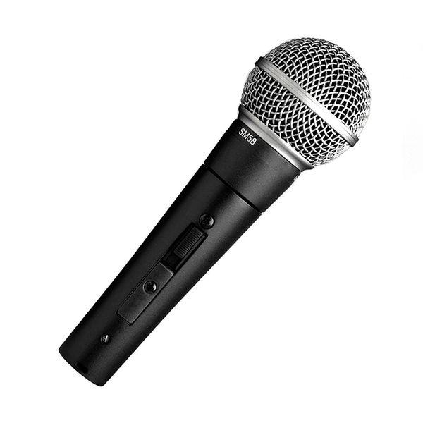 Microfono vocale dinamico SM58S con interruttore di accensione e spegnimento Microfono portatile con microfono e karaoke vocale di alta qualità per uso domestico e da palco