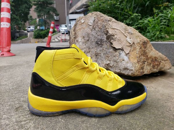 2019 New Bumblebee 11 Yellow Black Pack 11s 12s 14s Customized Mens Basketball Shoes For Men High Quality Designer Sneakers Trainer Size 13