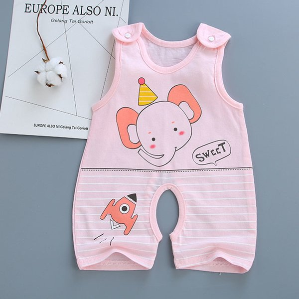 2019 Children Clothes Baby Girl Clothes Baby Rompers Baby Boy Romper Pullover Girl Summer Clothes Casual Fashion Kids Clothing