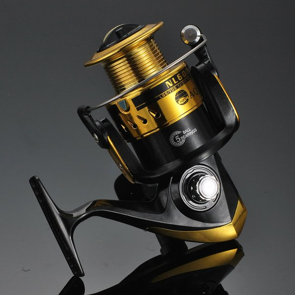 Black golden NL 1000 to 6000 Fishing Line Spinning Rollers Fish Pole Roller Sea Rollers Plastic Lines Cup designer 2019