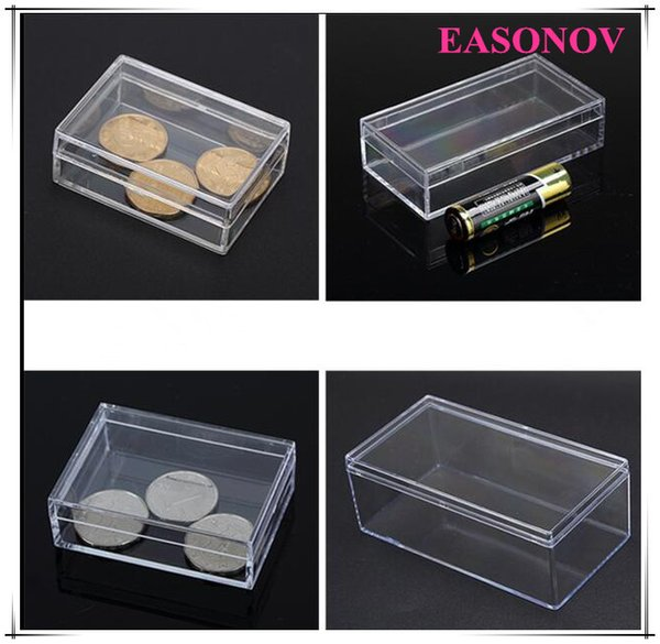 Various sizes ps storage box transparent plastic portable sample collection jewelry box