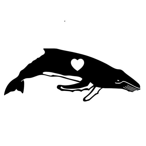 Humpback Whale Heart Love Car Auto Window Quality Vinyl Decal Sticker Car Window Laptop Car Stylings