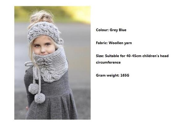 Nuevo gorro infantil de 2018 Gorro de lana de punto cálido en otoño e invierno Bufanda linda de niña bebé