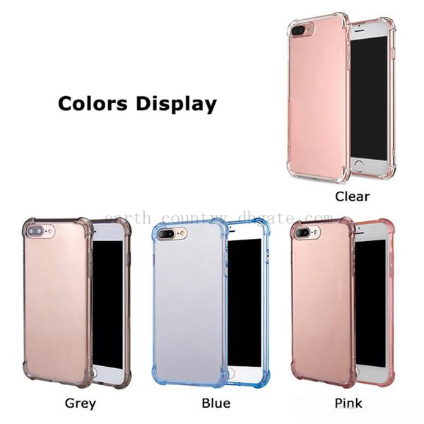 High Quality Cases For iPhone 11 X XR XS MAX TPU Case Shock Absorption Soft Transparent Back Cover Anti-scratch For Samsung S10 Note 10 PLUS