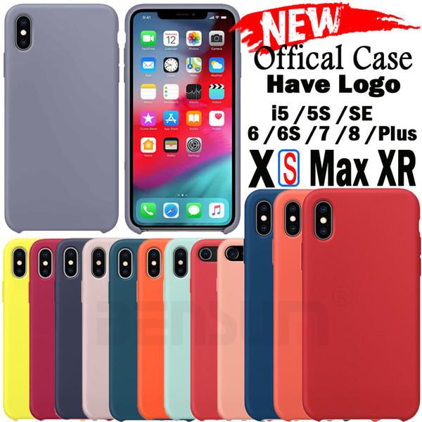 Coque en silicone d'origine LOGO pour iPhone XS MAX Coque Soft Touch Touch Silky Caver pour iPhone XS XR X avec la boîte de vente au détail