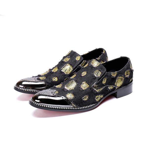 Nueva Bullock tallado hombres de cuero genuino de negocios paty masculino zapatos de baile italiano geométrica boda fiesta hombres zapatos de vestir