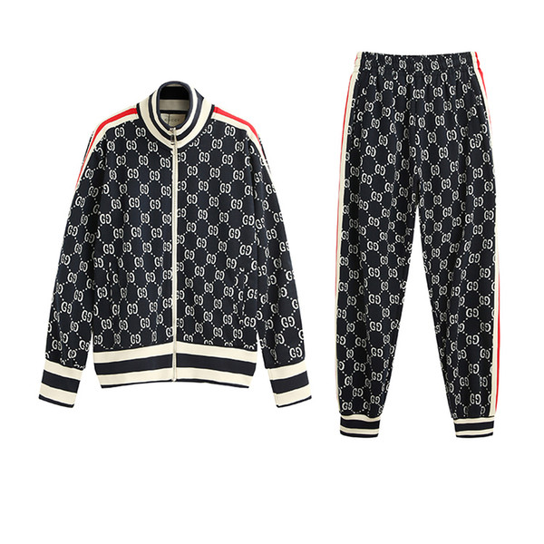 Men Tracksuits Designer Brand Two-Pieces Fashion Sportwears Street Style Long Sleeve&Pants Luxury Letters Clothes Hip Hop 2019