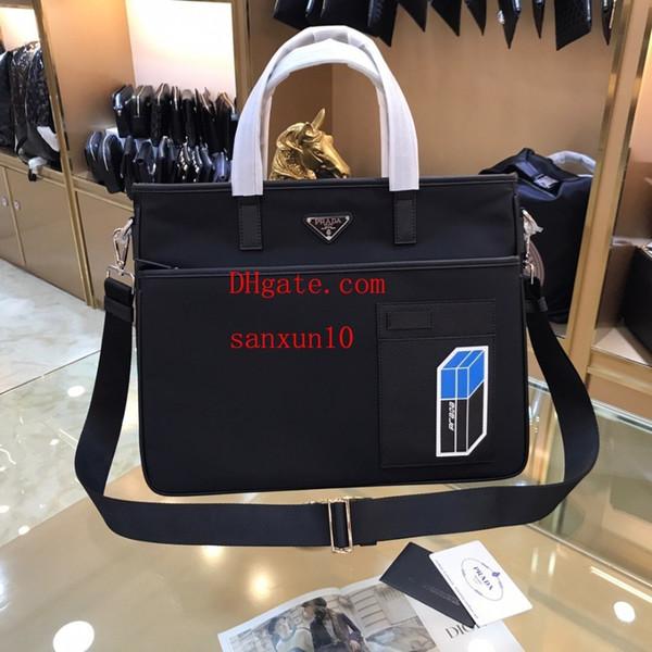 Men's leather Shoulder Messenger BagNew fashion portable casual waterproof computer bag business tide file holder handbags