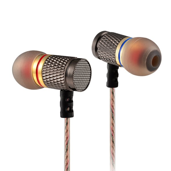 KZ EDR1 Headphones Gold Plated Housing Earphone with Microphone 3.5mm HD HiFi In Ear Monitor Bass Stereo Earbuds for Phone
