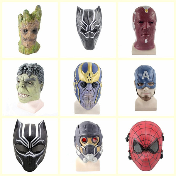 Hot Halloween Latex Mask Cosplay Avengers: Endgame Tony Stark Robert Bruce Banner Captain America Adults Party Full Head Mask